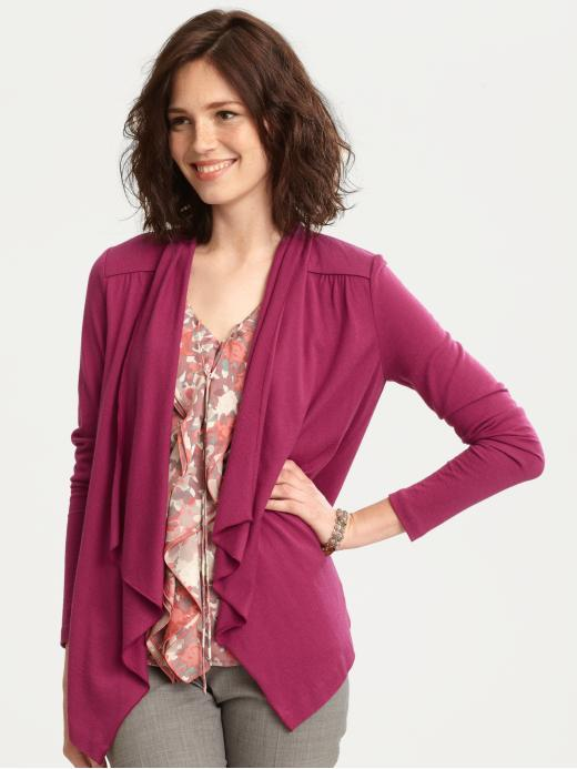 Long-sleeve open cardigan