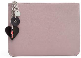 Christian Louboutin Loubicute pale pink pouch