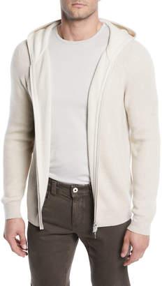 Loro Piana Men's Baby Cashmere Zip-Front Hoodie