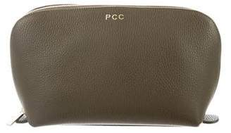 Cuyana Grained Leather Zip Pouch