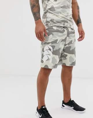 Canterbury of New Zealand Vapodri shorts in grey camo exclusive to ASOS