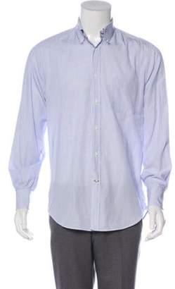 Brunello Cucinelli Pinstriped Dress Shirt blue Pinstriped Dress Shirt