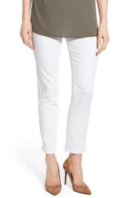NYDJ 'Millie' Pull-On Stretch Ankle Skinny Jeans (Endless White) (Regular & Petite)