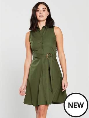 MANGO Wendy Ring Detail Dress - Khaki