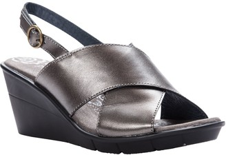 Propet Crisscross Leather Strap Sandals - Luna
