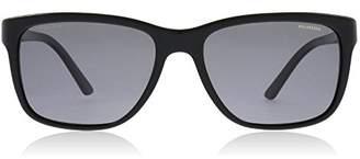 Versace Men's Polarized VE4249-GB1/81-58 Rectangle Sunglasses