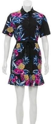 Markus Lupfer Floral Print Button-Up Dress