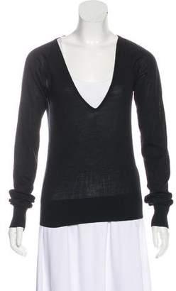 Prada V-Neck Lightweight Sweater