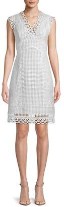 ABS by Allen Schwartz Women's Embroidered Lace A-Line Dress