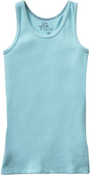 Old Navy Girls Solid Rib-Knit Tanks