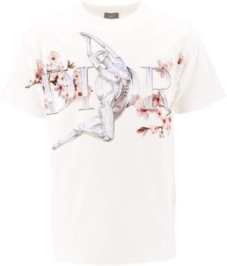 Christian Dior X Sorayama Robot Logo Printed T-Shirt