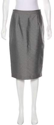 Max Mara Patterned Knee-Length Skirt