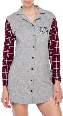 hello kitty Plaid Sleep Shirt $30 thestylecure.com