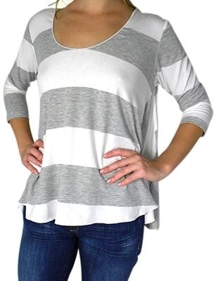 Otis & Maclain - Women's 3/4 Sleeve Thick Stripes Tee