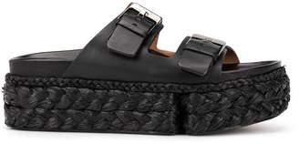 Clergerie Abby buckle strap platform sandals