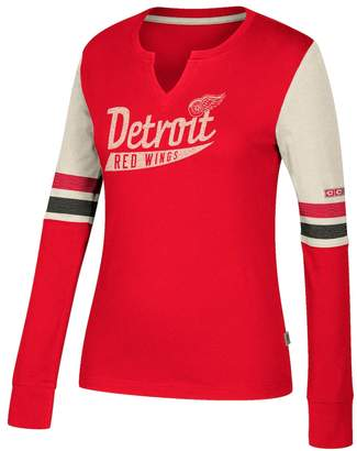 Ccm Women's CCM Detroit Red Wings Notch-Neck Tee