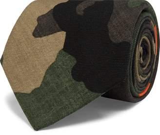 Ralph Lauren Camo-Print Wool Narrow Tie