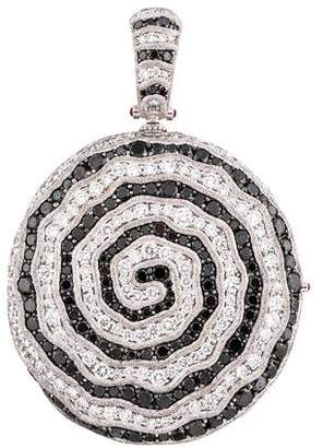 Alex Soldier 18K Diamond Swirl Locket Pendant