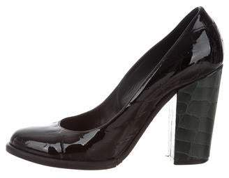 Sonia Rykiel Embossed Patent Leather Pumps