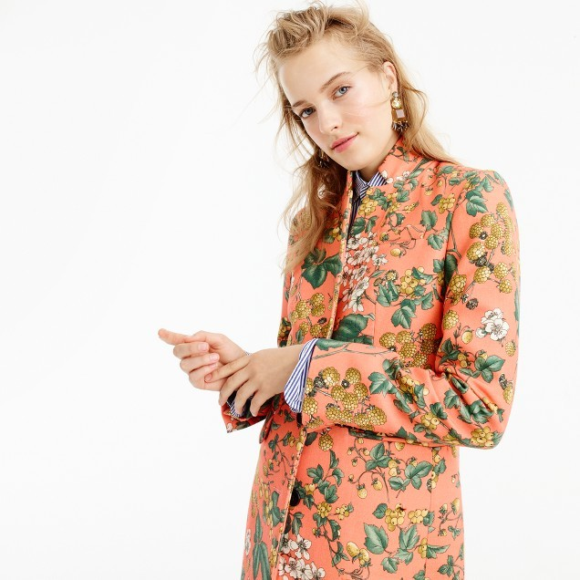 J.CrewCollection Regent topcoat in Ratti® fruity-floral print