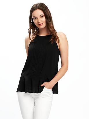 Relaxed High-Neck Pintuck Top for Women $24.94 thestylecure.com