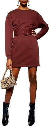 Topshop Belted Sweater Dress