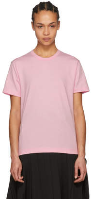 Comme des Garcons Pink Jersey Logo T-Shirt
