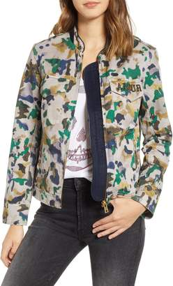 Zadig & Voltaire Kavy Watercolor Camouflage Cotton Jacket
