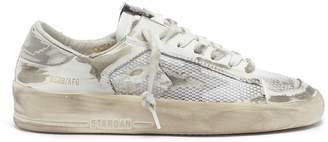 Golden Goose 'Stardan' mesh panel distressed leather sneakers