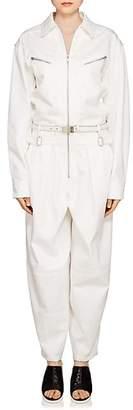 Givenchy Women's Cotton Gabardine Oversized Jumpsuit - White