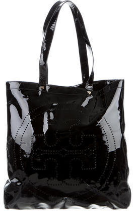 Tory Burch Tory Burch Patent Leather Perforated Tote