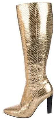 Saint Laurent Embossed Leather Boots