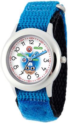 Marvel Emoji Boys Blue Strap Watch-Wma000088