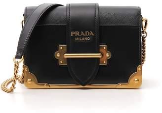 Prada Cahier Buckle Strap Shoulder Bag