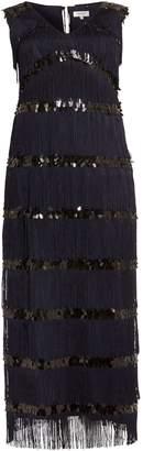 Next Womens Studio 8 Blue Starlet Fringe Maxi Dress