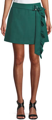 Maggie Marilyn Got My Mind Made Up Skirt Belted Ruffle Skirt