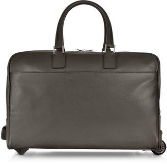 Giorgio Fedon Dark Brown Travel Leather Rolling Duffle
