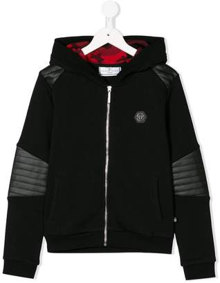 Philipp Plein Junior full zip skull hoodie