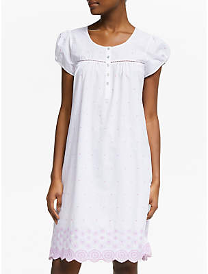 John Lewis   Partners Flower Embroidered Cotton Nightdress 59cf0a5ab