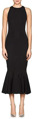 Women's Fitted Ponte Midi-Dress