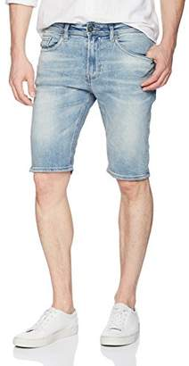 Buffalo David Bitton Men's Parker-x Slim Fit Ripped and Distressed Denim Short