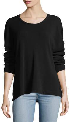 James Perse Birdseye Knit Split-Hem Top
