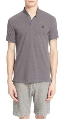 The Kooples SPORT Pipe-Trimmed Band Collar Pique Polo