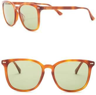 Gucci 56mm Square Sunglasses
