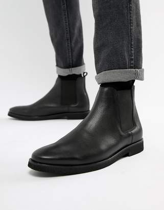 WALK LONDON WALK London Hornchurch chelsea boots in black leather