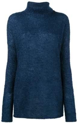 Simon Miller Goleta Blue Roll neck knitted jumper