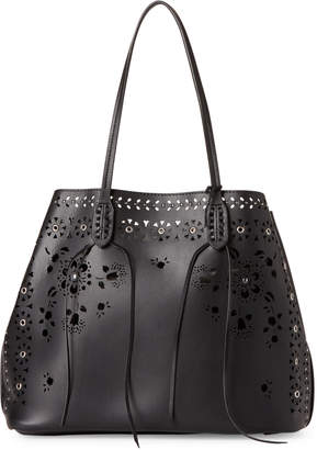 Chanel Moda Luxe Black Perforated Bag-in-Bag Tote