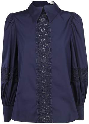 See by Chloe Lace Trim Blouse