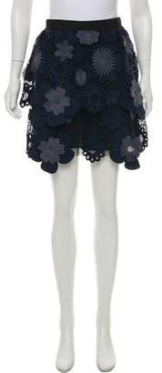 Self-Portrait Lace Mini Skirt w/ Tags