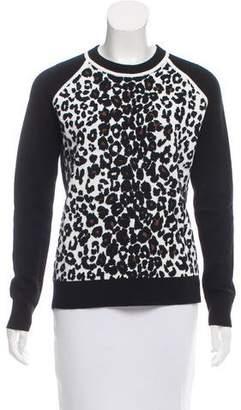 A.L.C. Leopard-Patterned Jacquard Sweater